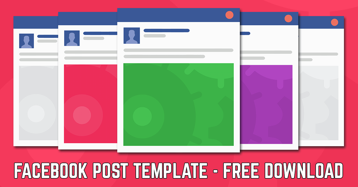 Facebook Post Template Free Facebook Post Template Download - Facebook posting schedule template