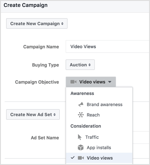 facebook create ad campaign in power editor