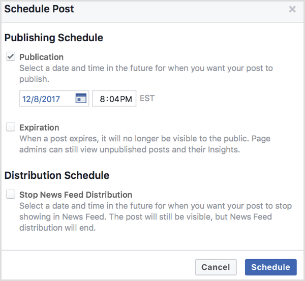 facebook upload video schedule post 1