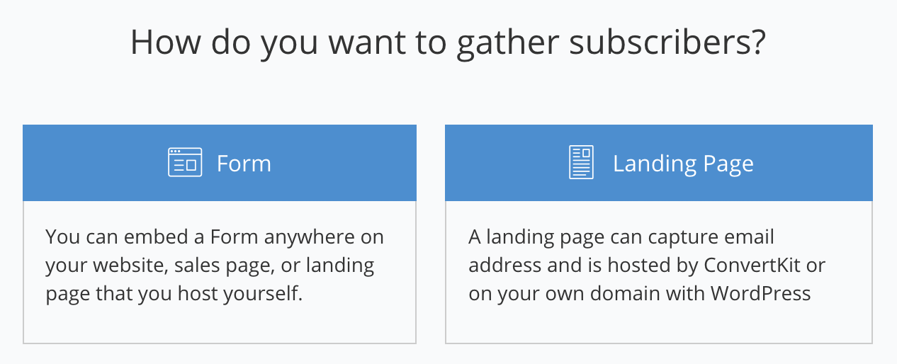 convertkit review of forms and landing pages