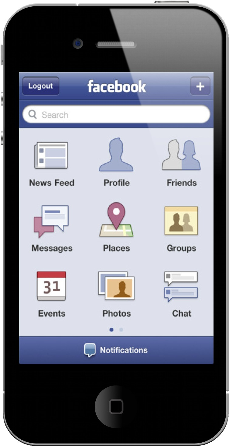 facebook mobile app 2012